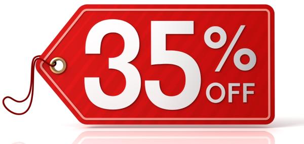 LIQUIDACIÓN DE STOCK 35% DESCUENTO